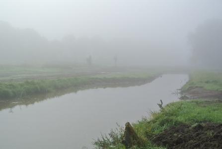 Hermeandering Deurzerdiep zorgt voor modderige paden